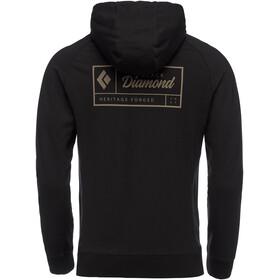 Black Diamond Heritage Logo FZ Capucha Hombre, black